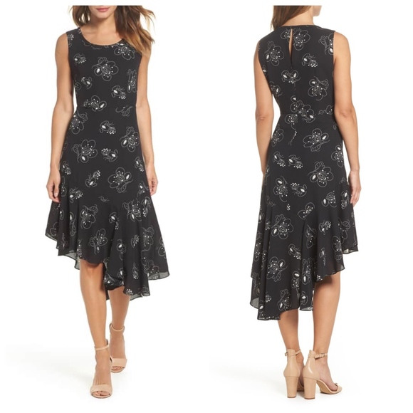 kobi Halperin Dresses & Skirts - Kobi Halperin Asymmetrical floral dress